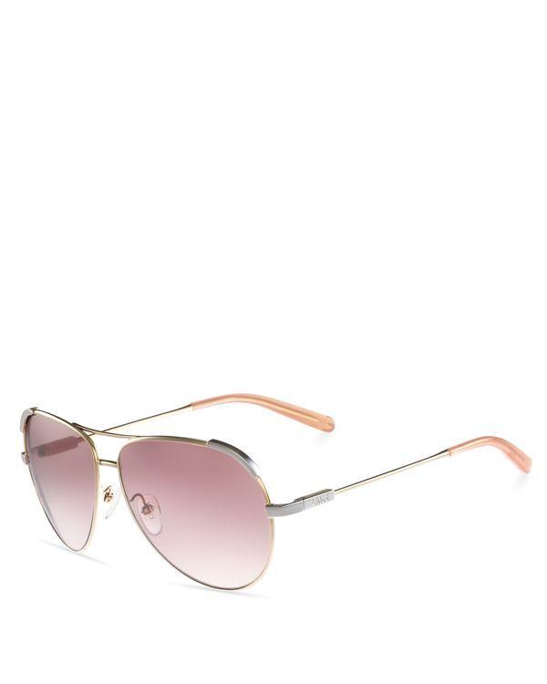 75f165aea7a Chloe Nerine Aviator Sunglasses