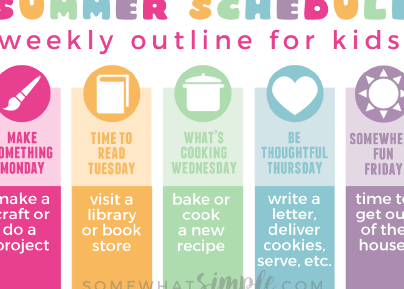 Organize your summer with this summer schedule for kids #summerschedule Organize your summer with this summer schedule for kids #summerschedule