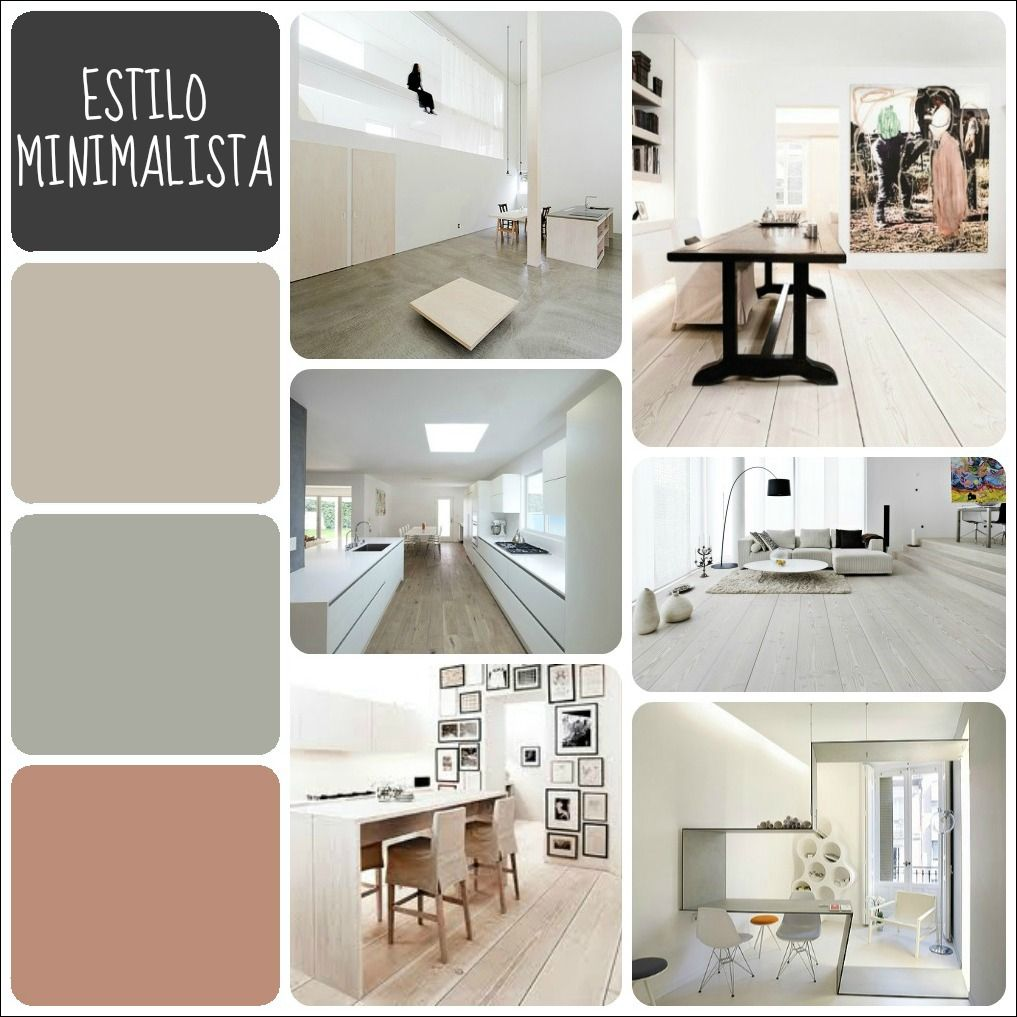 Colores estilo minimalista combinaciones pinterest for Deco de interiores