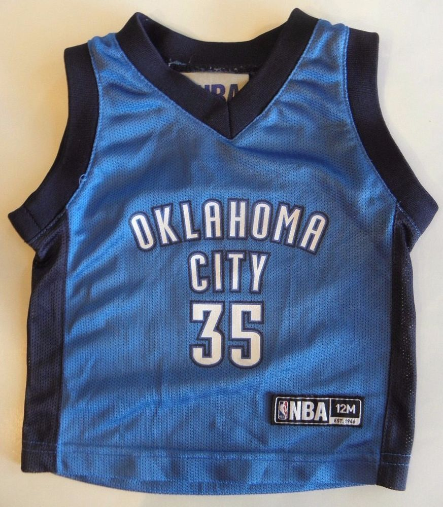 oklahoma city thunder 35 kevin durant blue toddlers jersey