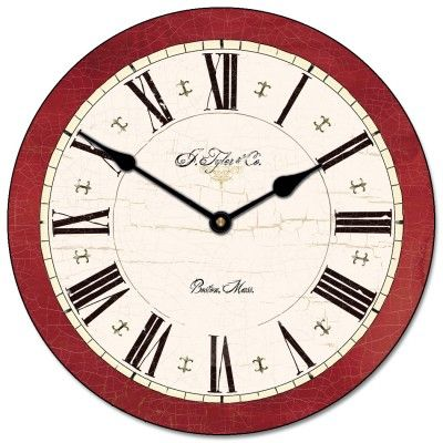 Carolina Red Clock comes in lots of different sizes, starting at $44!  This clock comes with free shipping and is customizable.  Add logos, pictures, dates, texts, quotes or whatever you want! #red #redclocks #largewallclocks #customclocks