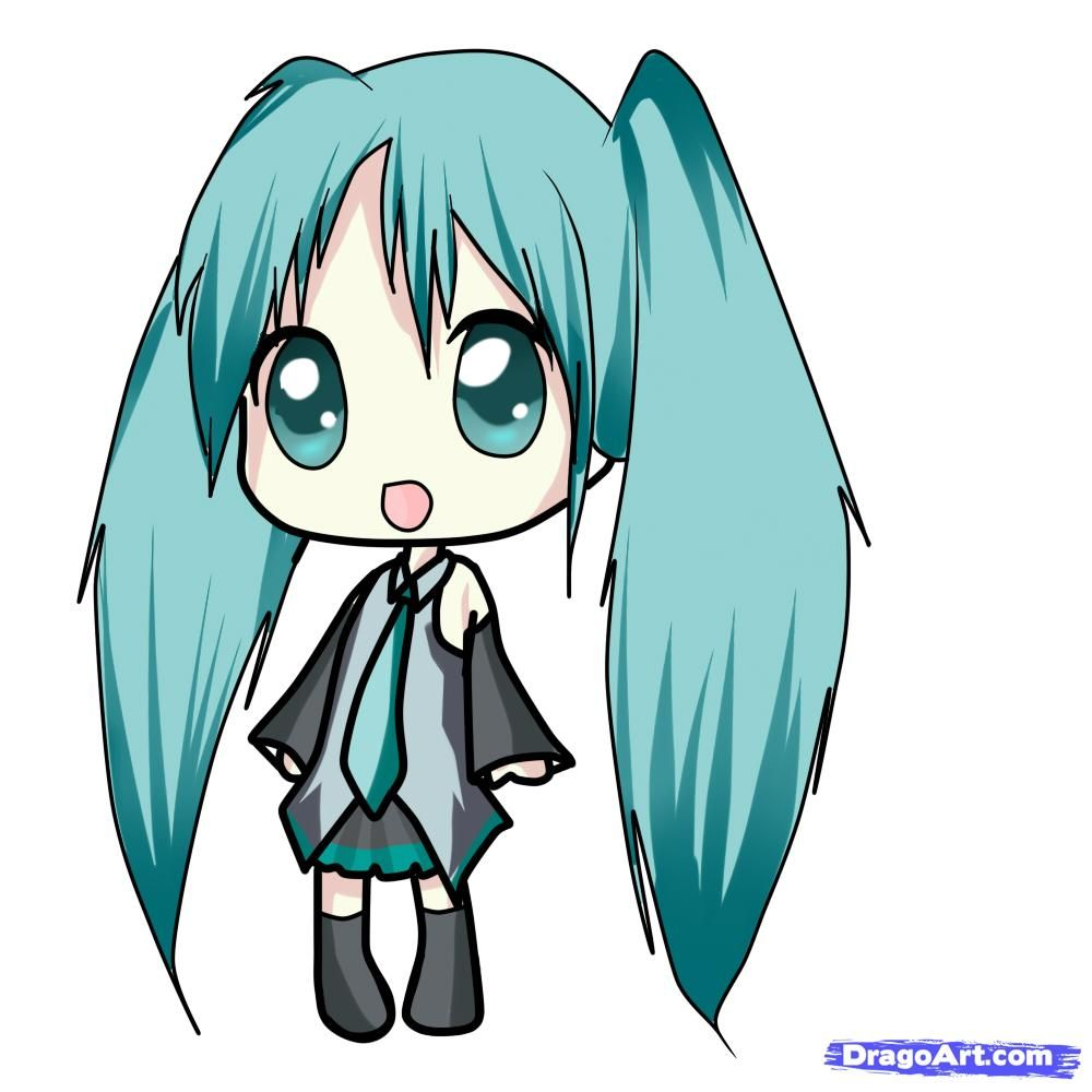 chibi hatsune miku easy to draw images pictures my hair color