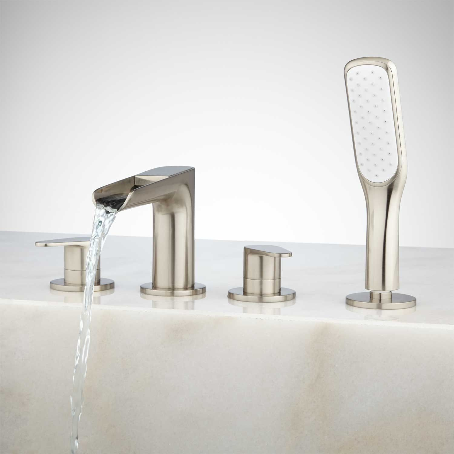 Pagosa Roman Waterfall Tub Faucet and Hand Shower | Faucet, Tubs and ...