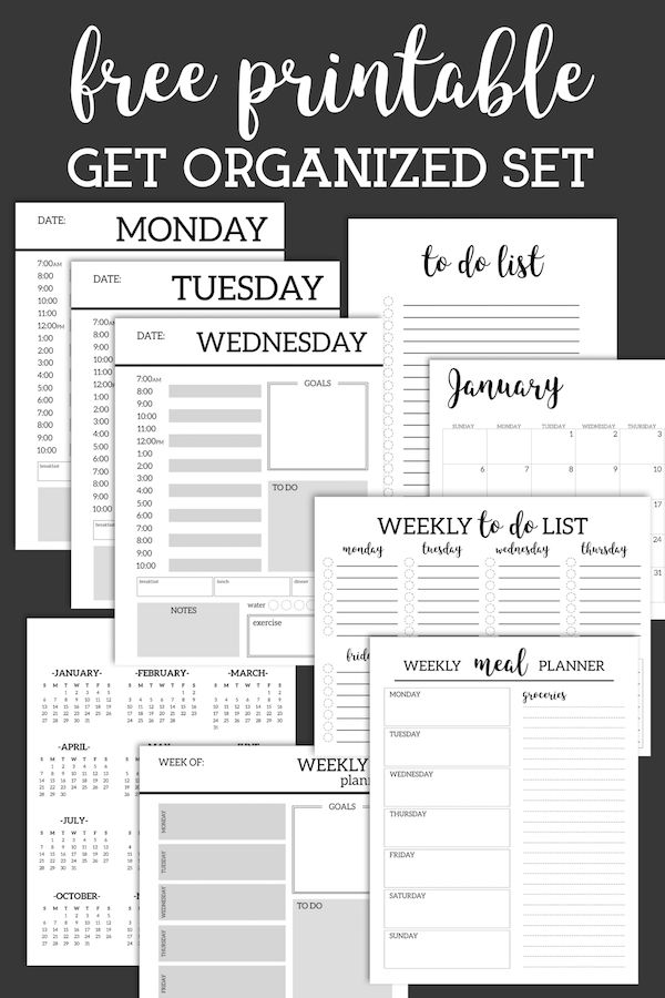 Monatsplaner-Vorlage {Printable Planner Pages} - Paper Trail Design