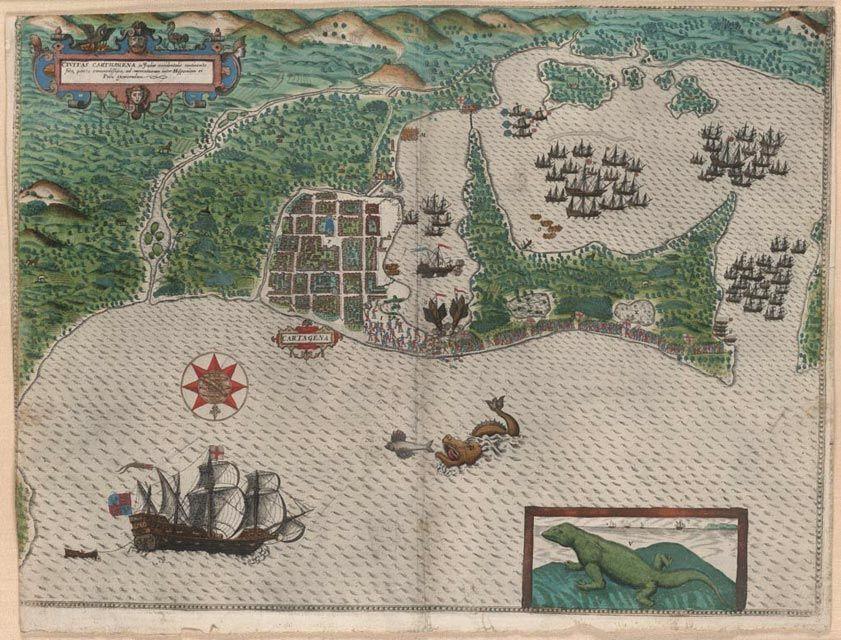 File Boazio Sir Francis Drake In Cartagena Jpg Arte Con Mapas Cartagena De Indias Independencia De Colombia