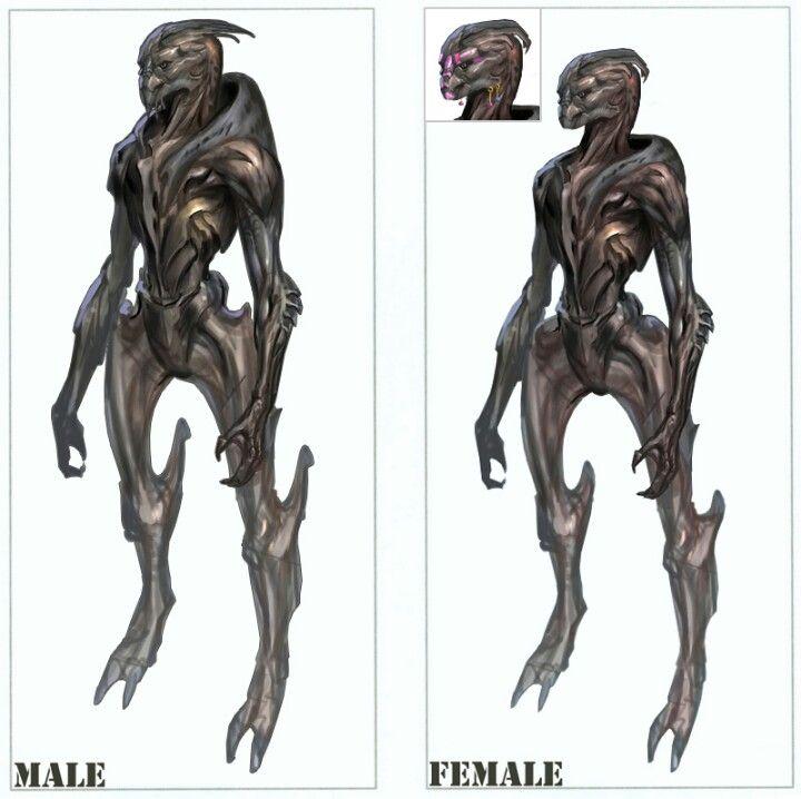 Original Turian Concept Art For Mass Effect Video Games