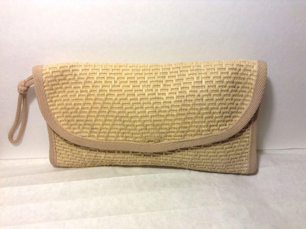 """Vintage'Mister Ernest made in Italy"""" Raffia Straw Clutch Handbag #MISTERERNEST #Clutch"""