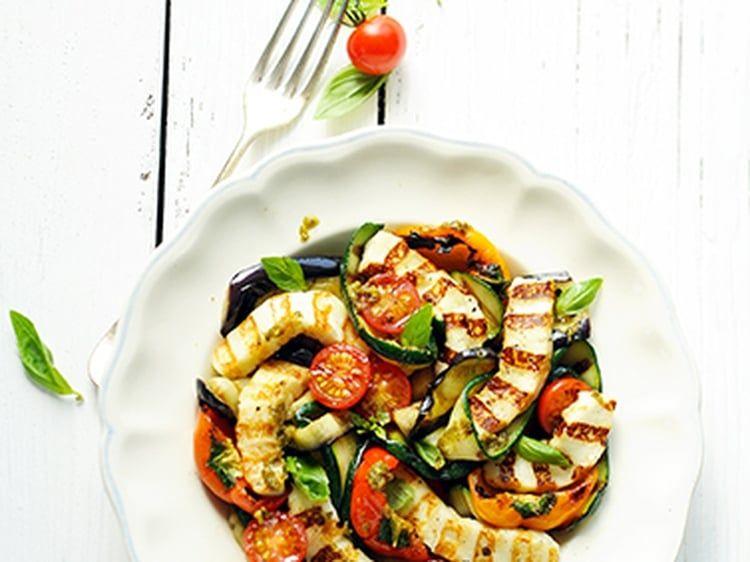 Grillis et Légumes grillés au pesto | Recette, Cuisine ...