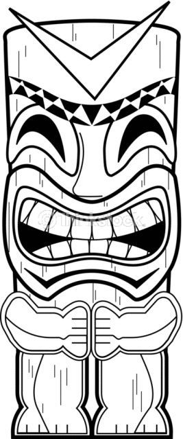 hawaiian totem pole coloring pages - photo#2