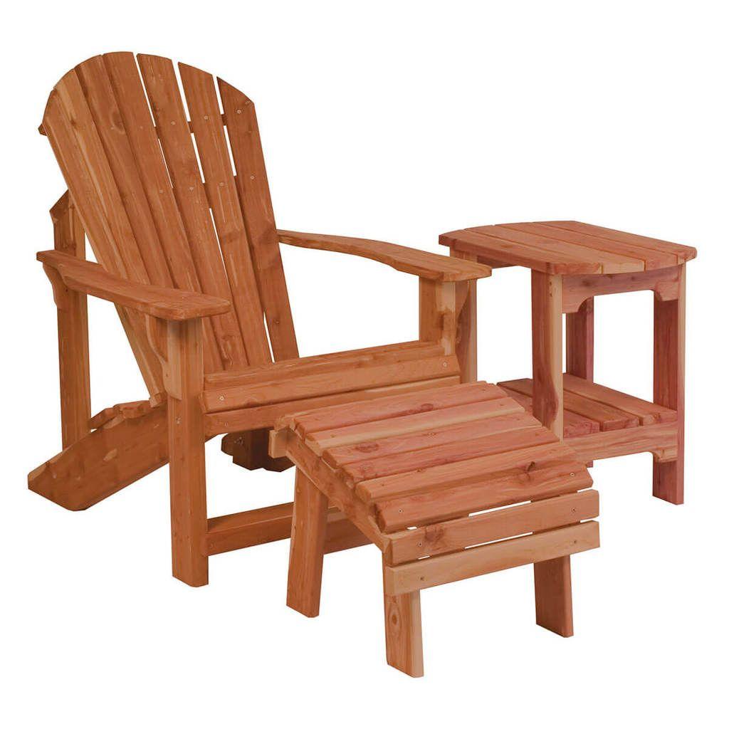 Classic Cedar Adirondack Chair Outdoor Wood Furniture Outdoor