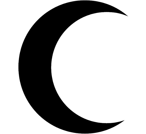 solid black crescent moon clipart sticker luna pinterest rh pinterest com black crescent moon clipart crescent moon clip art free