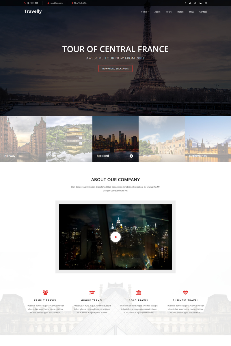 Travelly Travel Agency Landing Page Template 73746 Landing Page Travel Agency Travel
