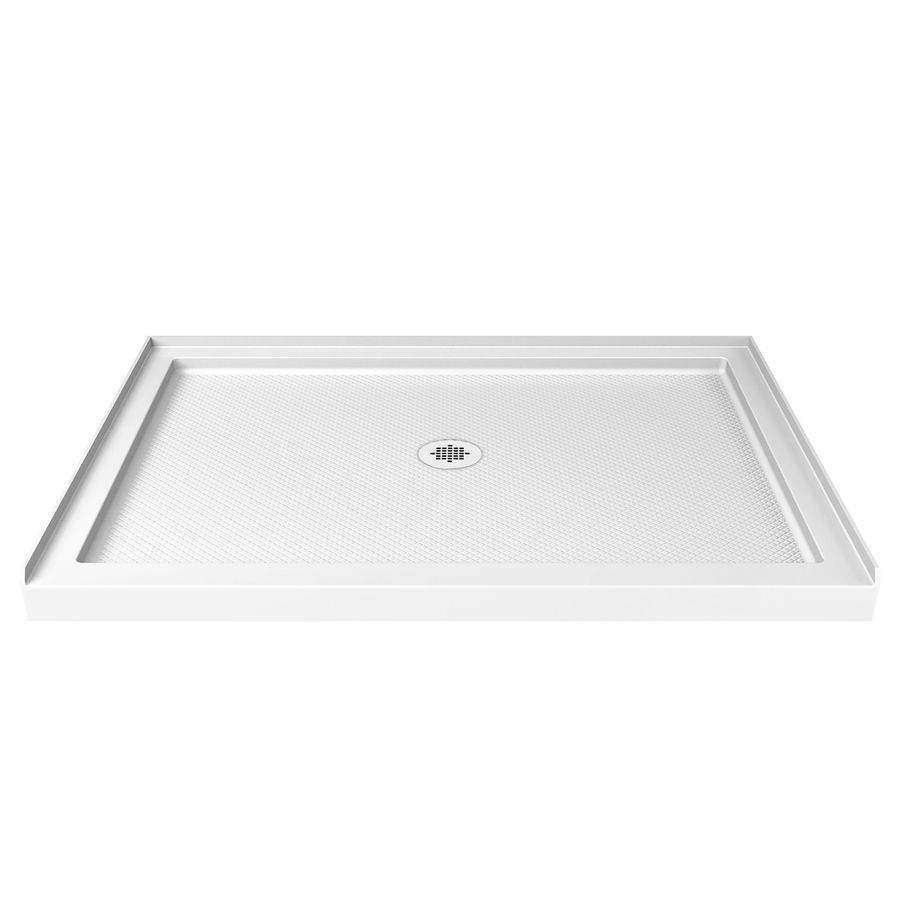 Dreamline Slimline White Acrylic Shower Base Common 32 In W X 48
