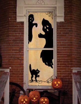ghost panel - Door Decorations For Halloween