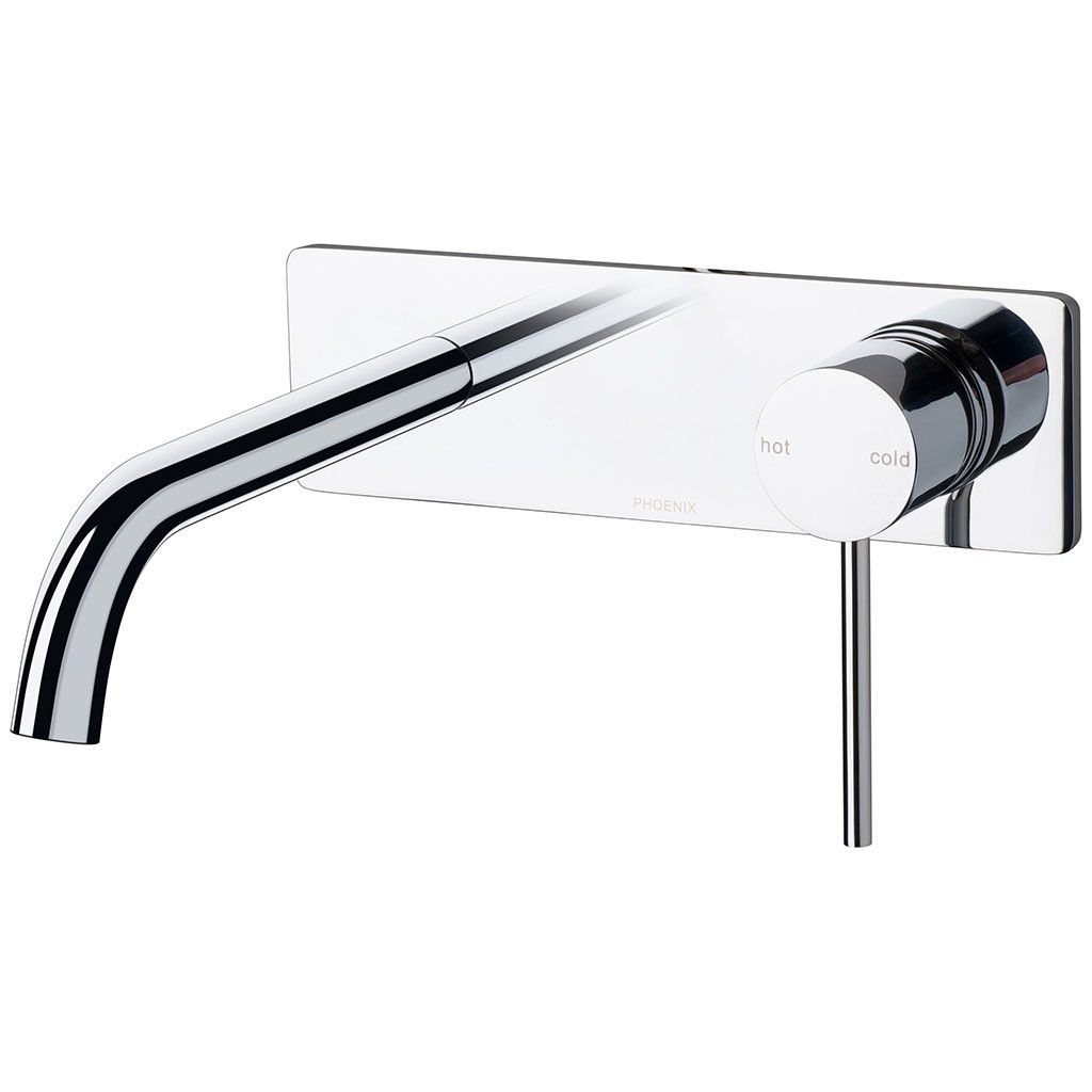 Vivid Slimline Wall Bath Set 180mm Curved (Chrome) | Accessories ...