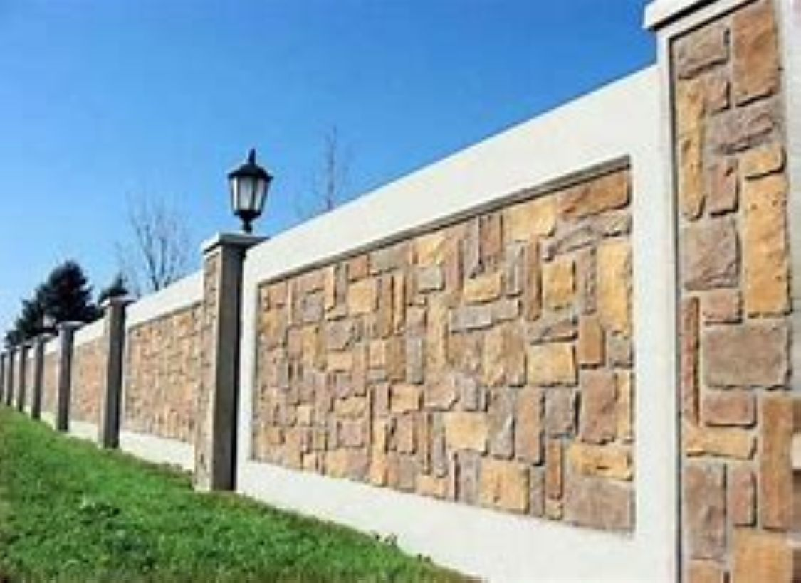 Awesome 38 Totally Adorable Wall Design Ideas To Makes Your Home Looks Beautiful More At Http Decora Exterior Wall Design Compound Wall Design Wall Exterior