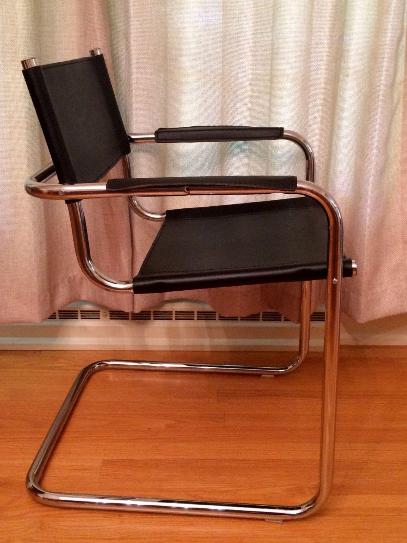 Matteo Grassi Design.Matteo Grassi Chair Italian Chrome Leather Great Price