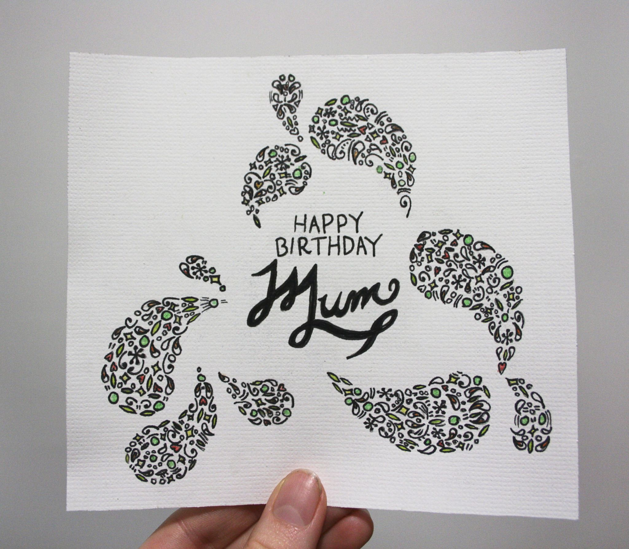 Mums birthday card Final card FatherMothers day – Birthday Cards for Mum