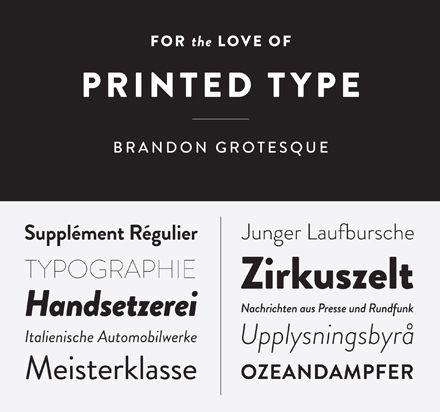 Hannes von Döhren, Berlin, HVD Fonts, Brandon Grotesque #typeface #font