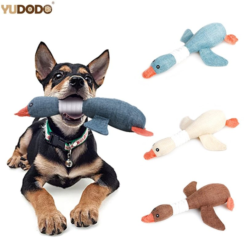 Cartoon Wild Goose Plush Dog Toys Resistance To Bite Squeaky Sound