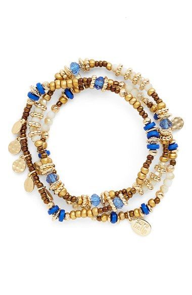 Sara+Bella+Beaded+Stretch+Bracelets+(Set+of+3)+available+at+#Nordstrom