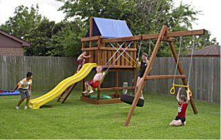 jacks backyard do it yourself wood fort and swing set