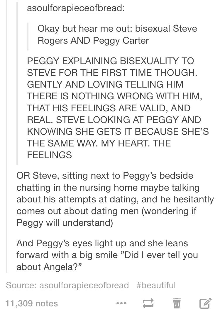 My little bisexual heart is bursting with joy over this headcanon