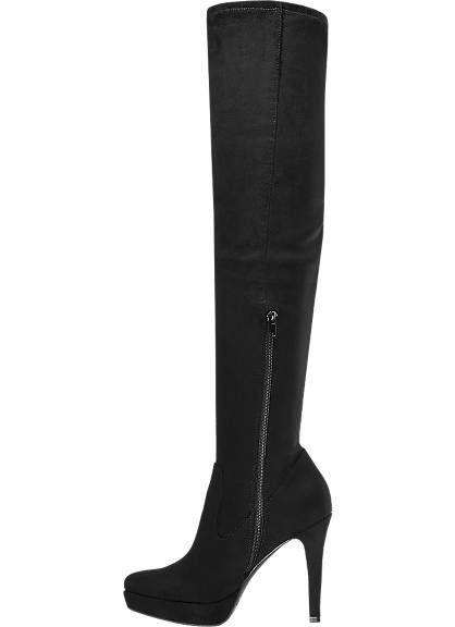 799412e2f9 Hosszú szárú csizma - Catwalk - deichmann.com | Fashion | Heeled ...