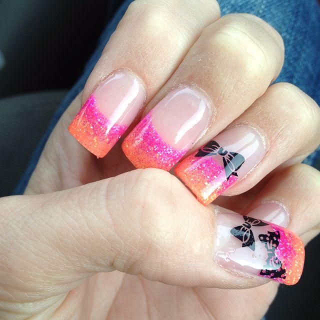 Acrylic nail design bows hair nails makeup pinterest acrylic nail design bows prinsesfo Image collections