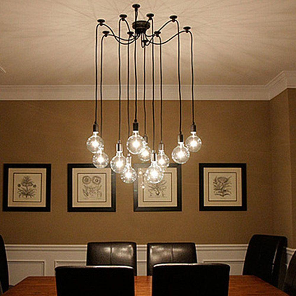 Encontrar m s luces colgantes informaci n acerca de creativo ara a estilo 10 brazo edison - Lampara arana moderna ...