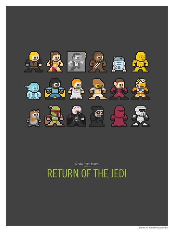 ejemplos de personajes en 8-bit