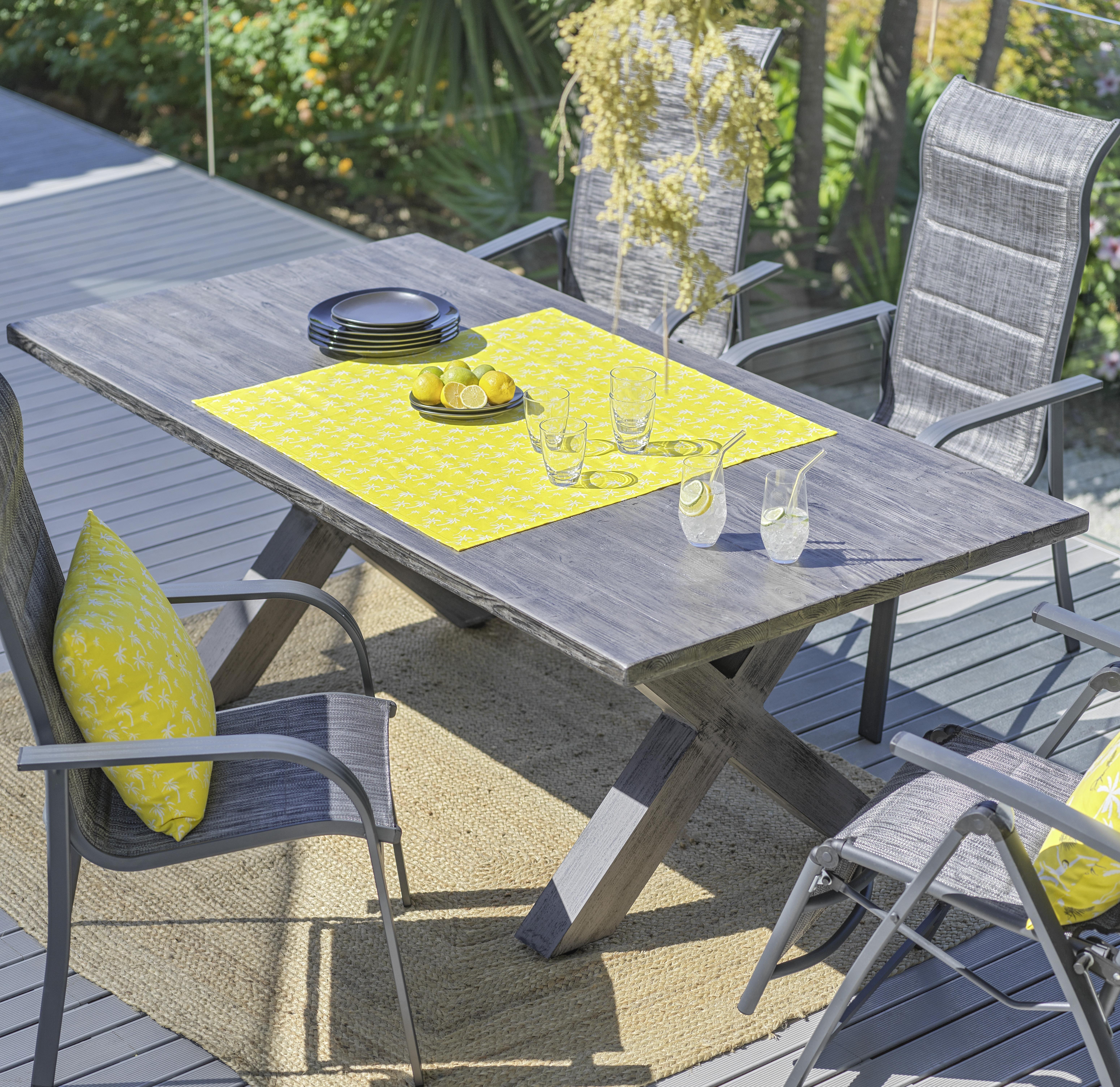 Gartentisch Kuba In Grau In 2021 Gartentisch Gartentisch Aluminium Lounge Mobel
