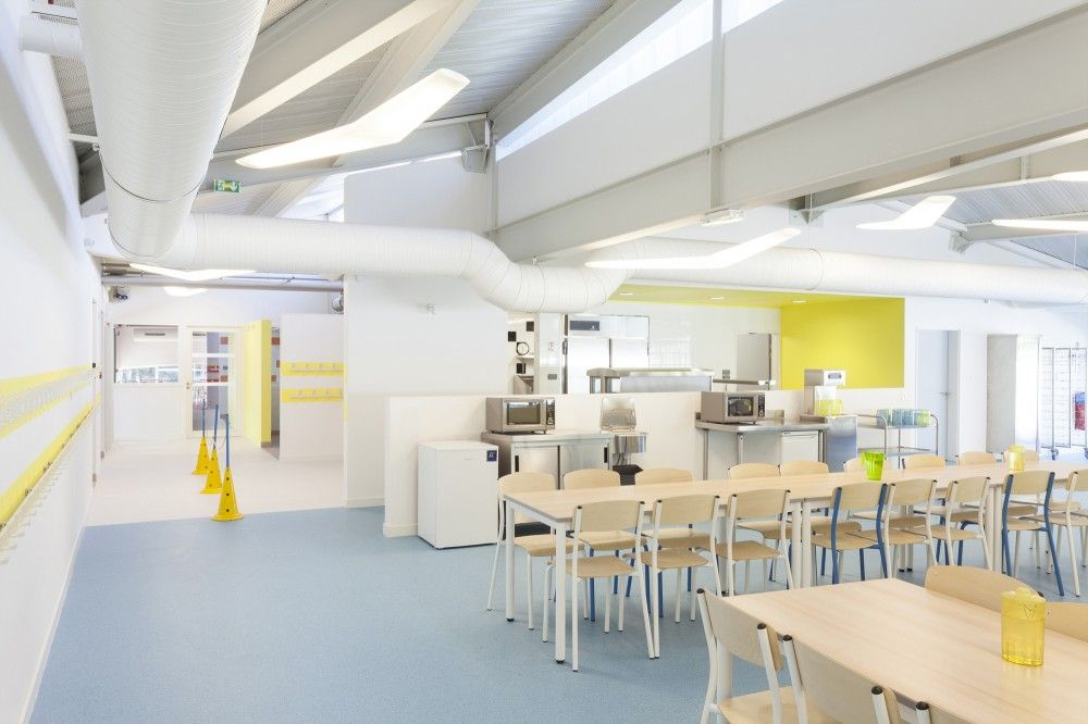 gallery of pajot school canteen atelier 208 12 canteen atelier and school. Black Bedroom Furniture Sets. Home Design Ideas