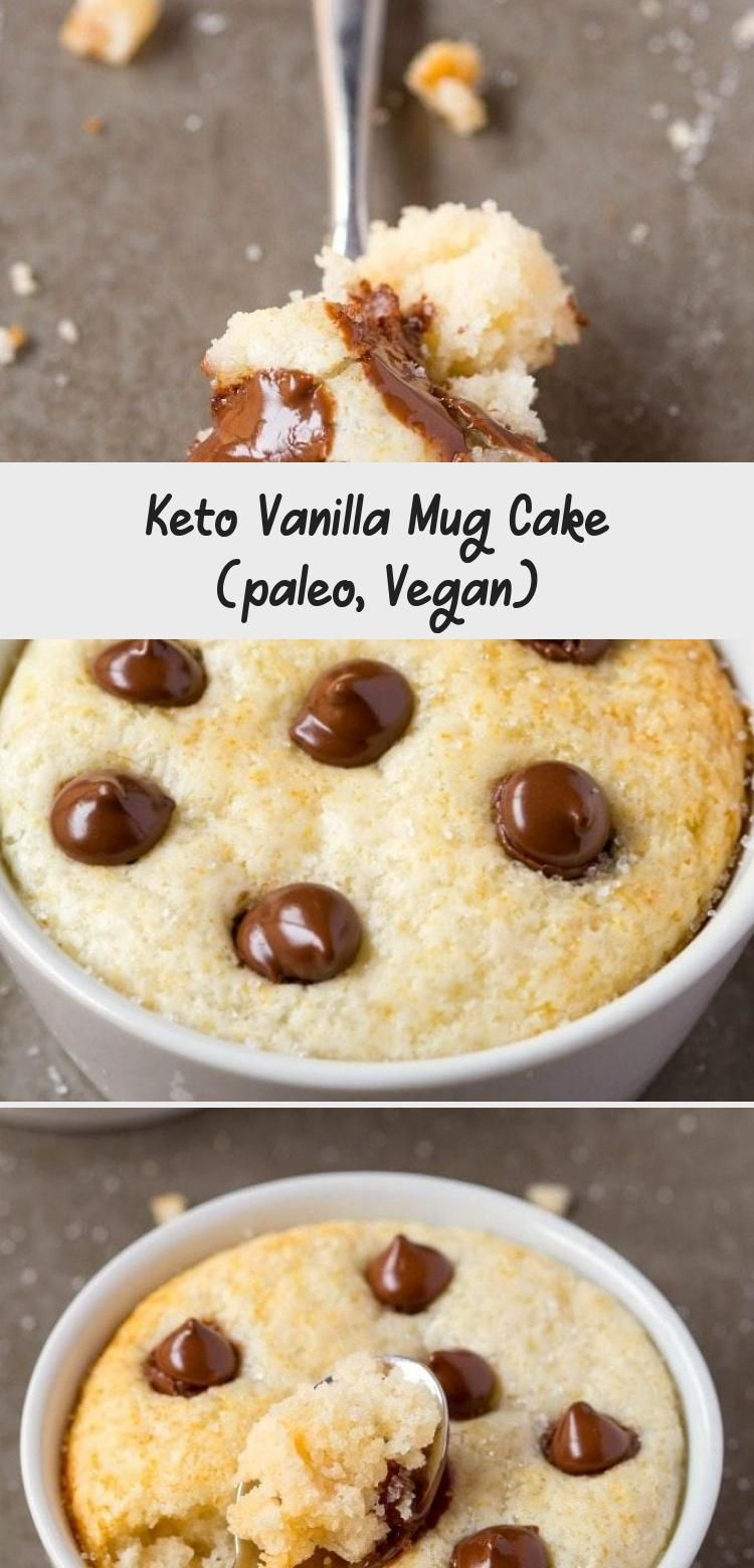 Keto Vanilla Mug Cake (paleo, Vegan in 2020 | Vanilla mug ...