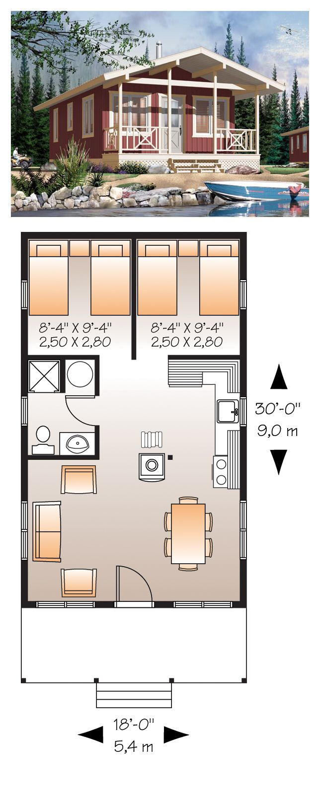 Tiny Home Designs: Narrow Lot House Plan 76167