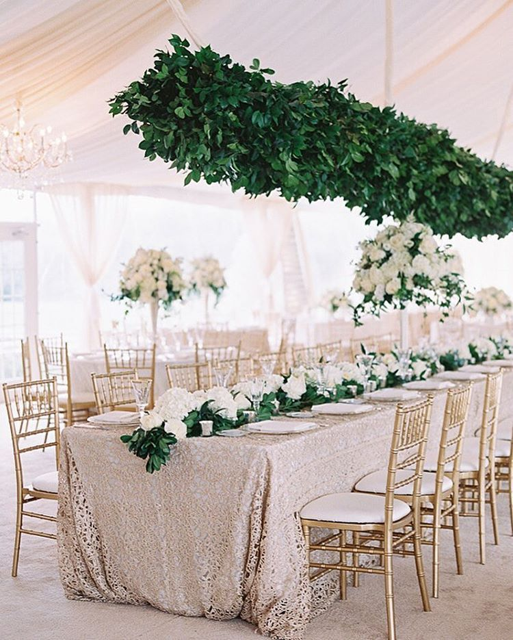 20 Amazing Hanging Greenery Floral Wedding Decorations For: Southern Weddings Magazine, North