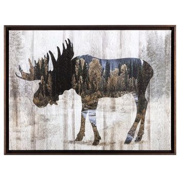 Pin By Jessica Nix On Moose Decor In 2021 Moose Wall Art Cabin Artwork Canvas Wall Decor