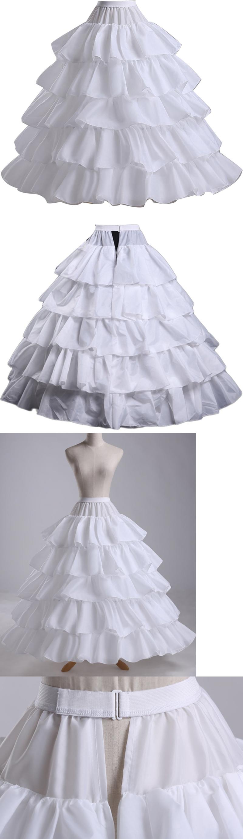 Wedding dress slip  Slips Petticoats and Hoops  Wantdo Full Hoop  Bones Bridal