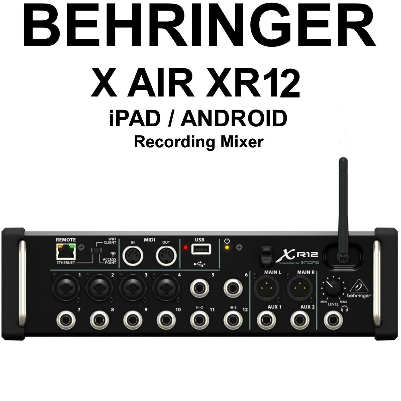 Behringer X Air Xr12 Ipad Android Tri Mode Wi Fi Fx