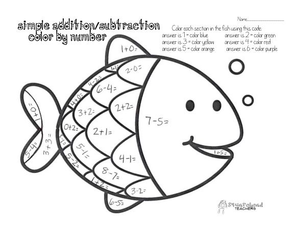 Fish Coloring With Numbers
