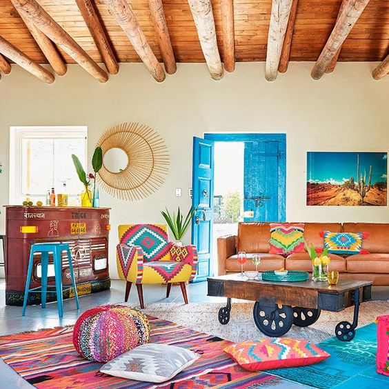 What Is Your Design Style Defining The Mexican Style Aesthetic Land Of Laurel Mexican Home Decor Colourful Living Room Decor
