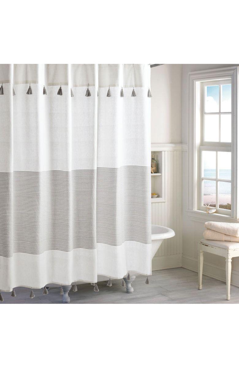 Panama Stripe Shower Curtain Main Color Grey Bathroom 3 Striped Shower Curtains Gray Shower Curtains Und Curtains