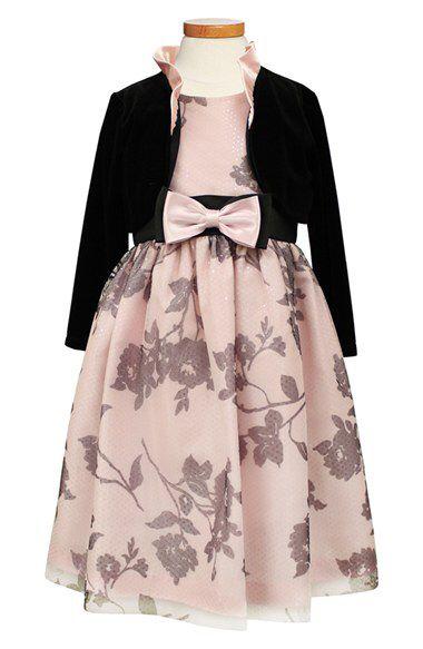Sorbet Sorbet Taffeta Dress & Velvet Bolero (Toddler Girls & Little Girls) available at #Nordstrom