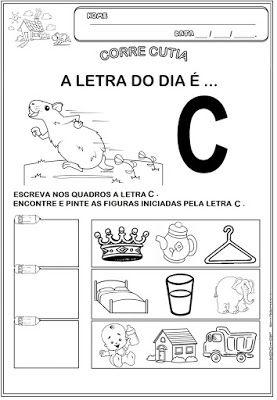 Educacao Infantil Facil Corre Cutia E Atividades Com A Letra C