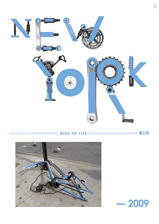 Typographic Bicycle Posters by Toormix | Inspiration Grid | Design Inspiration