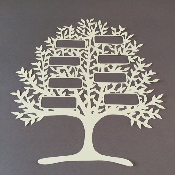 Family Tree Paper Cutting Template Personal Use By Lilypopcuts