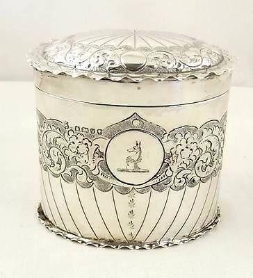 Antique Hallmarked Sterling Silver Jar 1888