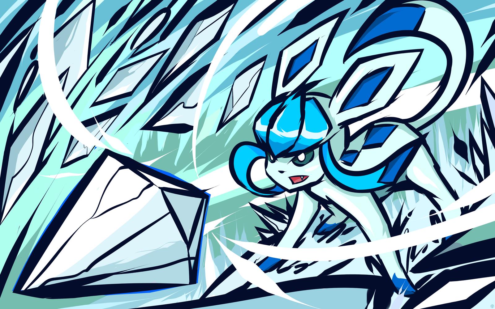 Shiny Glaceon Ice Shard Pokemon Cool Pokemon Pokemon Art