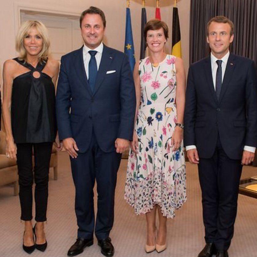 Brigittemacron Emmanuelmacron Macron Fashion Saint Yves First Lady