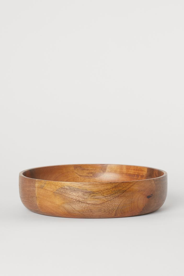 Mango wood salad bowl - Brown/Mango wood - Home All | H&M GB